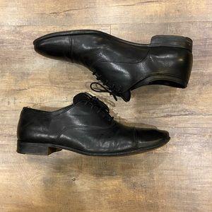 Prada Cap Toe Derby Leather Dress Shoe